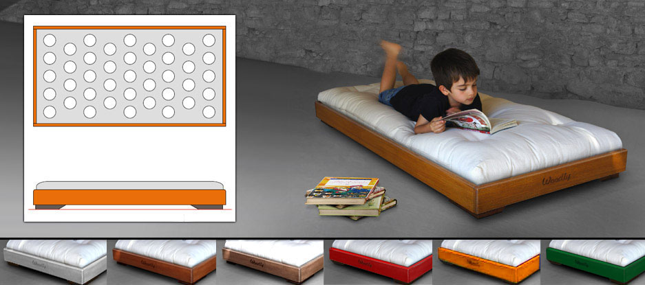 woodly store montessori floor bed. Black Bedroom Furniture Sets. Home Design Ideas